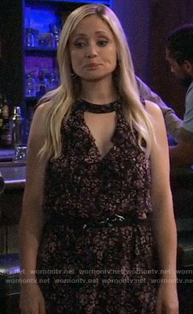 Lulu's floral ruffled dress on General Hospital