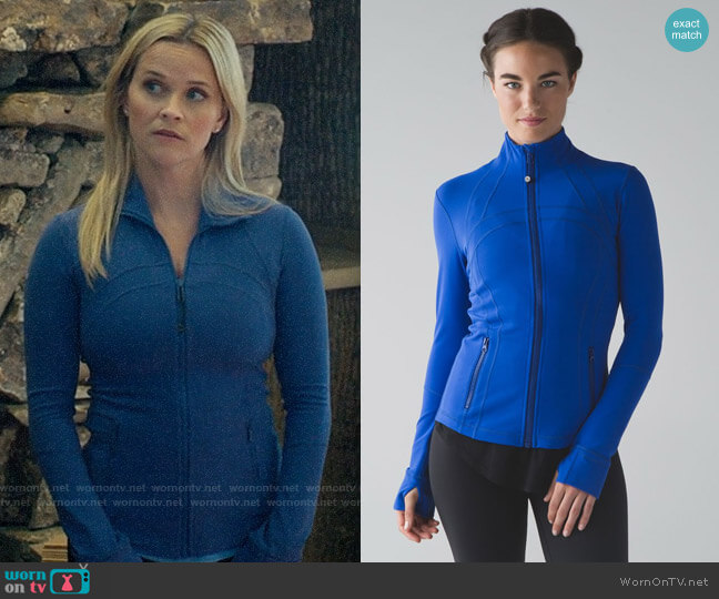Lululemon Define Jacket in Harbor Blue worn by Madeline Martha Mackenzie (Reese Witherspoon) on Big Little Lies