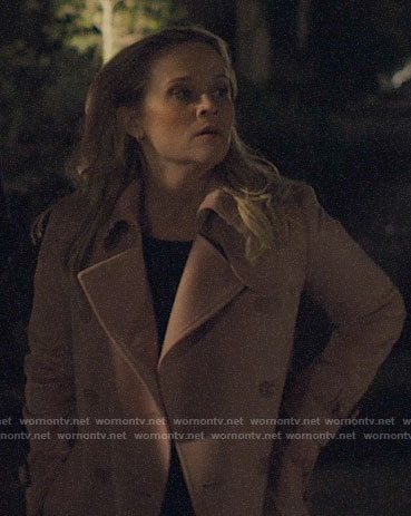Madeline's pink trench coat on Big Little Lies