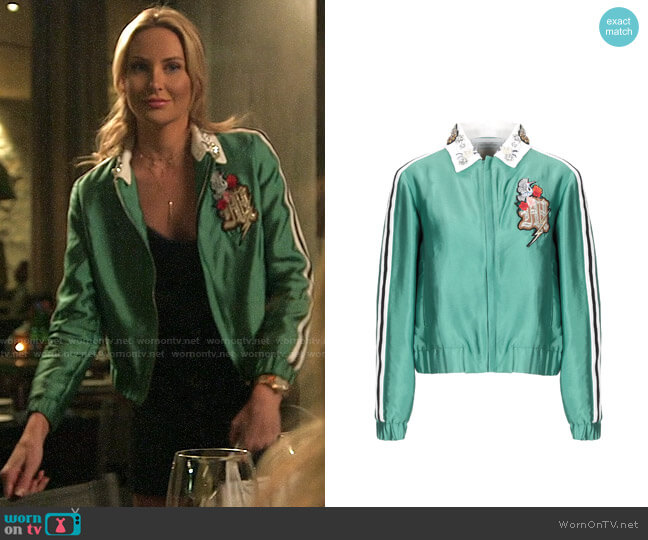 Maje Embellished Collar Bomber Jacket worn by Stephanie Pratt  on The Hills New Beginnings