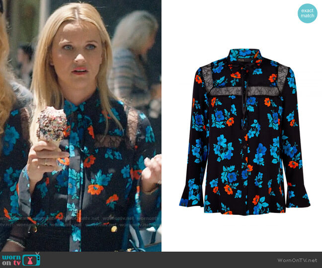 Maje Cirque Shirt worn by Madeline Martha Mackenzie (Reese Witherspoon) on Big Little Lies