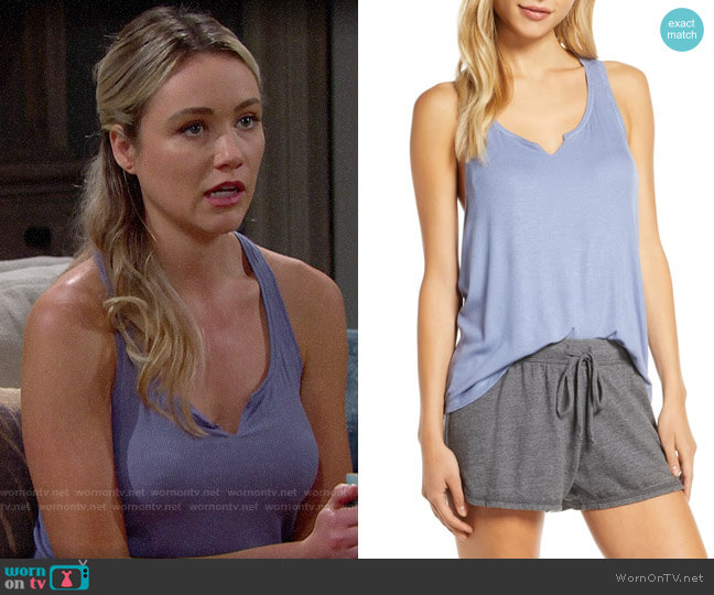 Make + Model You Know It Rib Tank worn by Florence (Katrina Bowden) on The Bold & the Beautiful