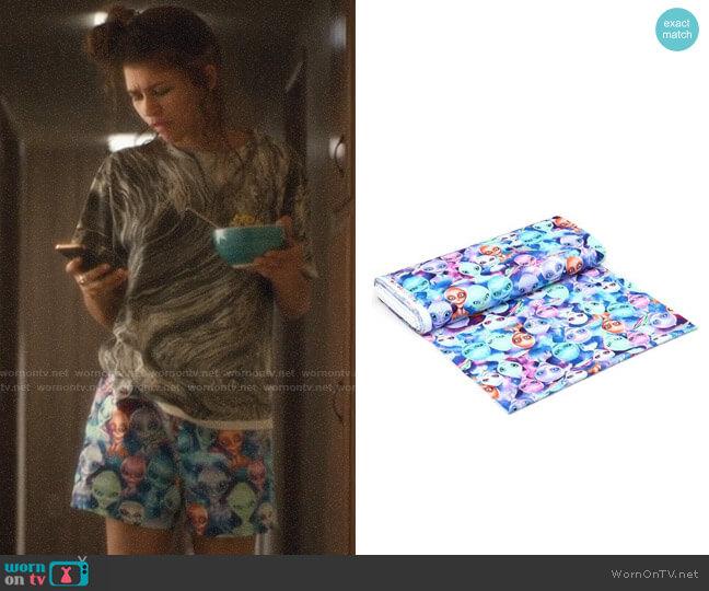 Michael Searl Alien Selfie Fabric Shorts worn by Rue Bennett (Zendaya) on Euphoria