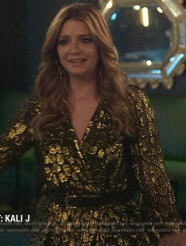 Mischa's gold dress on The Hills New Beginnings