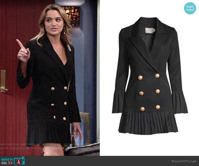 Misha Collection Jordie Dress worn by Summer Newman (Hunter King) on The Young & the Restless
