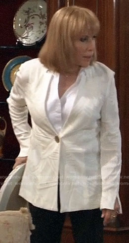Monica's ivory textured jacket on General Hospital