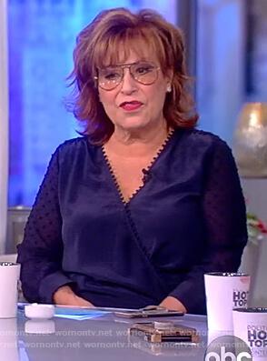 Joy's blue wrap blouse on The View