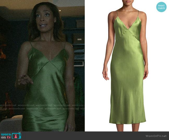 Olivia von Halle Issa Nightgown worn by Jessica Pearson (Gina Torres) on Pearson