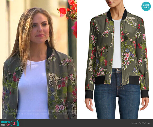 Ollie Bomber Jacket by L'Agence worn by Hannah Brown  on The Bachelorette