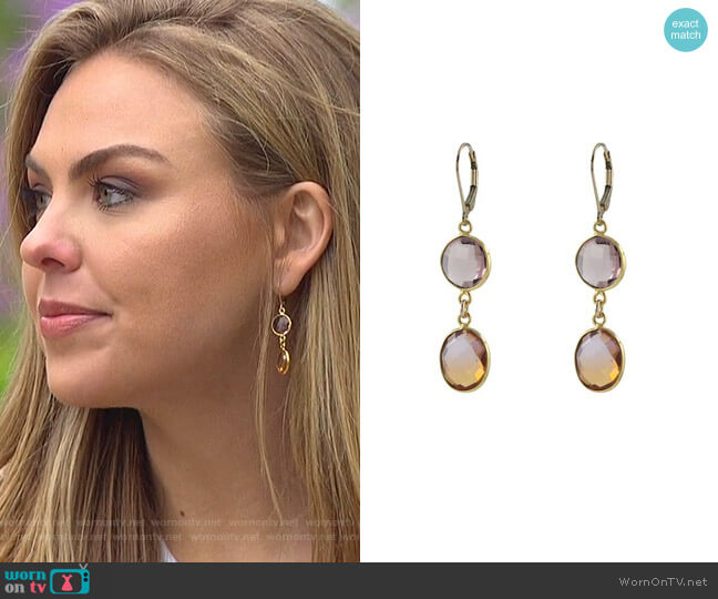 Sunrise Earrings by Peggy Li worn by Hannah Brown  on The Bachelorette