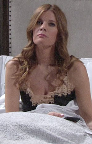 Phyllis's black and nude lace trim pajamas on The Young and the Restless