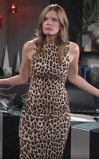Phyllis's leopard print dress on The Young and the Restless