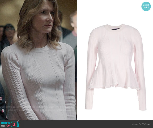 Proenza Schouler Peplum Sweater worn by Renata Klein (Laura Dern) on Big Little Lies