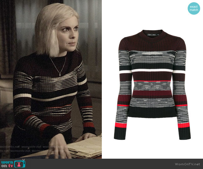Proenza Schouler Striped Pullover worn by Liv Moore (Rose McIver) on iZombie