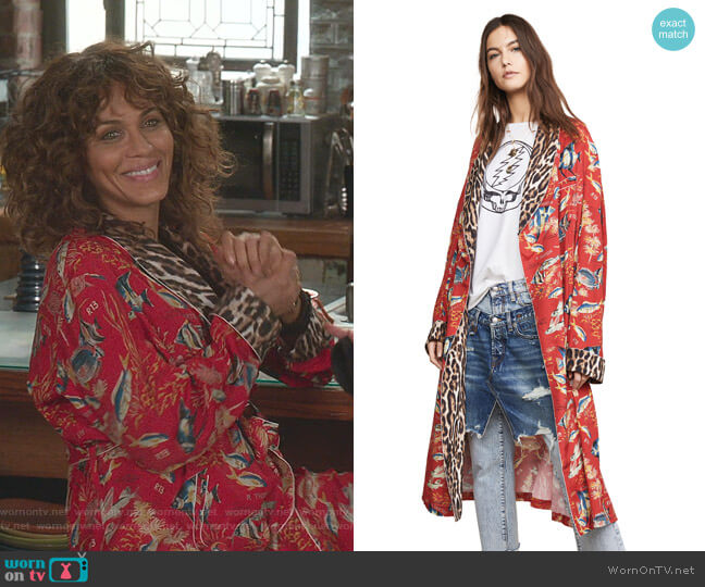 Smoking Robe by R13 worn by Nicole Ari Parker on Younger