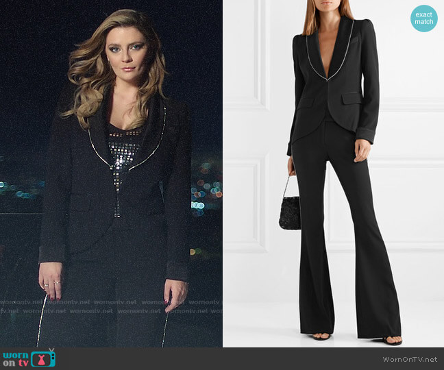 Rachel Zoe Tyler Crystal Trim Jacket and Jagger Pants worn by Mischa Barton  on The Hills New Beginnings