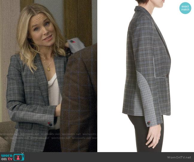 Rag & Bone Lexington Plaid Blazer worn by Veronica Mars (Kristen Bell) on Veronica Mars