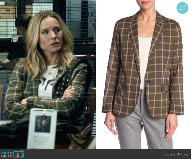 Rag & Bone Sybil Plaid Blazer worn by Veronica Mars (Kristen Bell) on Veronica Mars