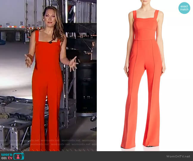 L'Amour Jumpsuit by Rebecca Vallance worn by Ginger Zee  on Good Morning America