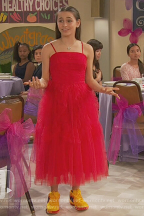 Tess's red tulle dress on Ravens Home