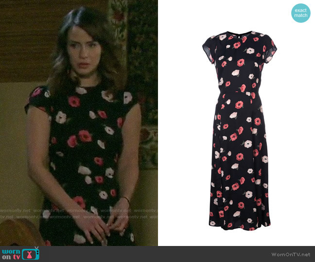 Reformation Gavin Dress worn by Sarah Horton (Linsey Godfrey) on Days of our Lives