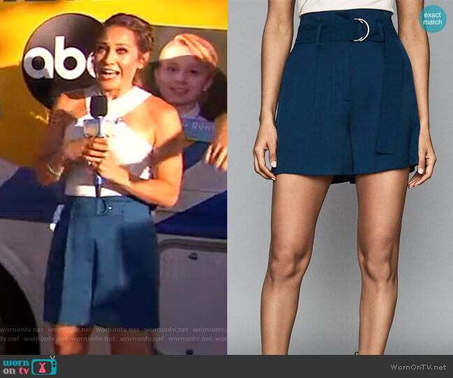 Elaine Shorts by Reiss worn by Ginger Zee  on Good Morning America