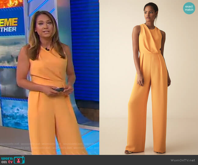 Chey Jumpsuit by Reiss worn by Ginger Zee  on Good Morning America