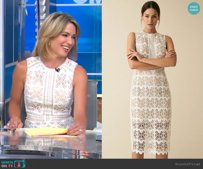 Coral Dress by Reiss worn by Amy Robach  on Good Morning America