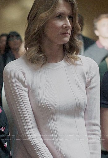 Renata's ribbed peplum sweater on Big Little Lies