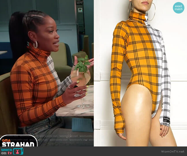 Color-Block Bodysuit by Ricki Brazil worn by Keke Palmer  on Good Morning America