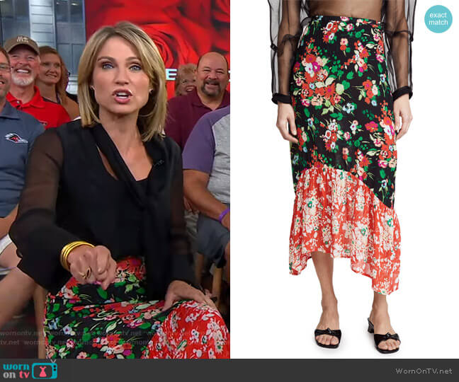 Leandra Skirt by Rixo worn by Amy Robach  on Good Morning America