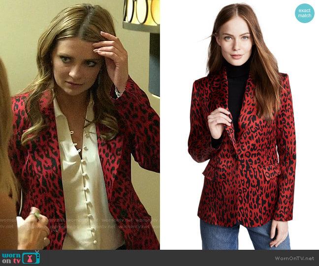 Robert Rodriguez Red Leopard Blazer worn by Mischa Barton  on The Hills New Beginnings
