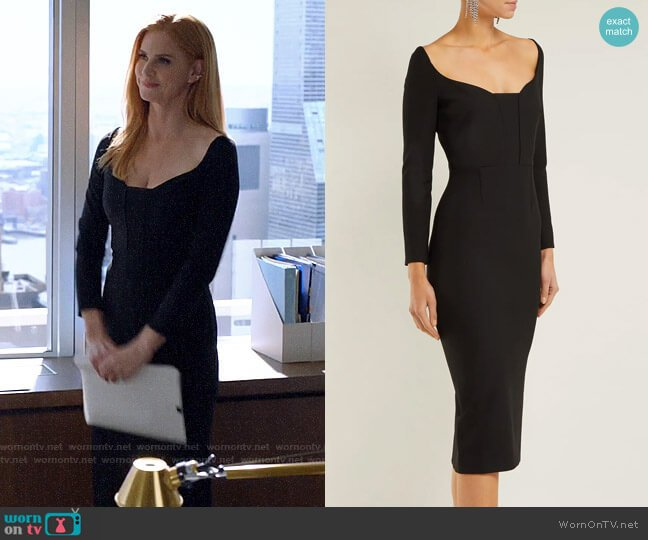 Roland Mouret Ardon Dress worn by Donna Paulsen (Sarah Rafferty) on Suits