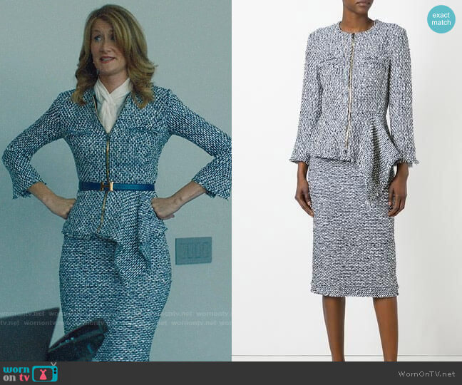 Roland Mouret Delen Jacket and Norley Skirt worn by Renata Klein (Laura Dern) on Big Little Lies