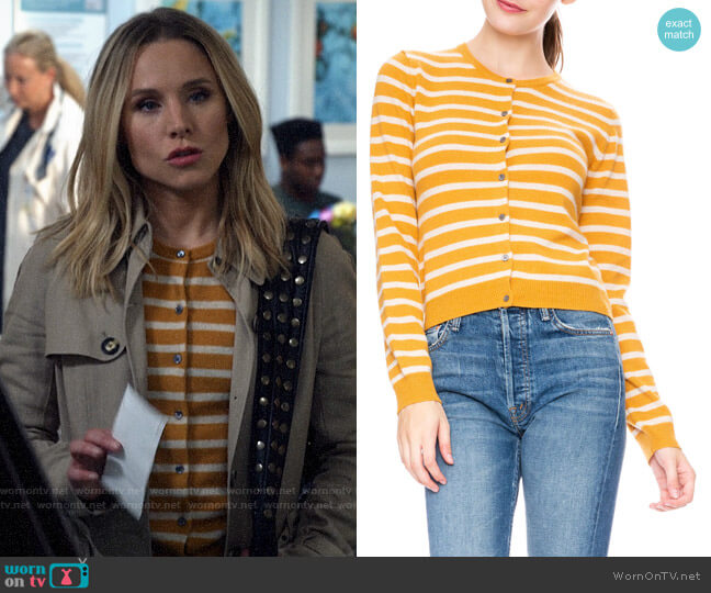 Ron Herman Striped Cardigan worn by Veronica Mars (Kristen Bell) on Veronica Mars