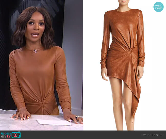 Haddasah Asymmetric Mini Dress by Ronny Kobo worn by Zuri Hall  on E! News