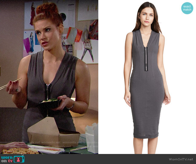 RtA Bandit Dress worn by Sally Spectra (Courtney Hope) on The Bold & the Beautiful