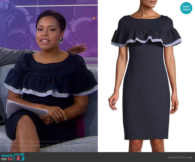 Ruffled Sheath Dress by Eliza J worn by Sheinelle Jones  on Today