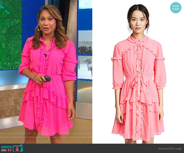 Tilly Dress by Saloni worn by Ginger Zee  on Good Morning America