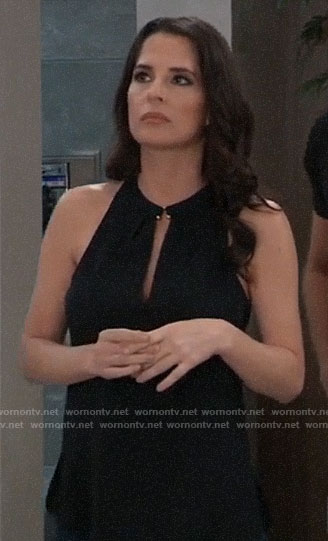 Sam's black keyhole top on General Hospital