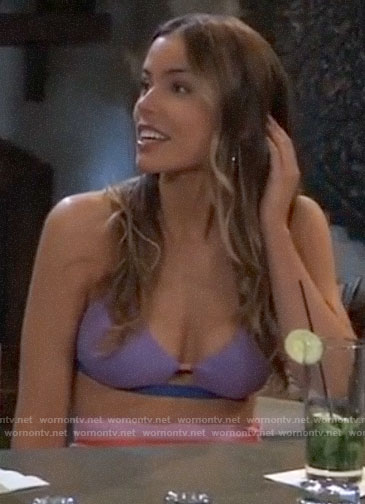Sasha's purple bikini on General Hospital