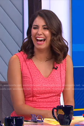 Cecilia's pink eyelet dress on Good Morning America