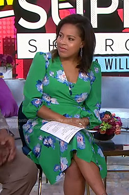 Sheinelle's green floral wrap dress on Today
