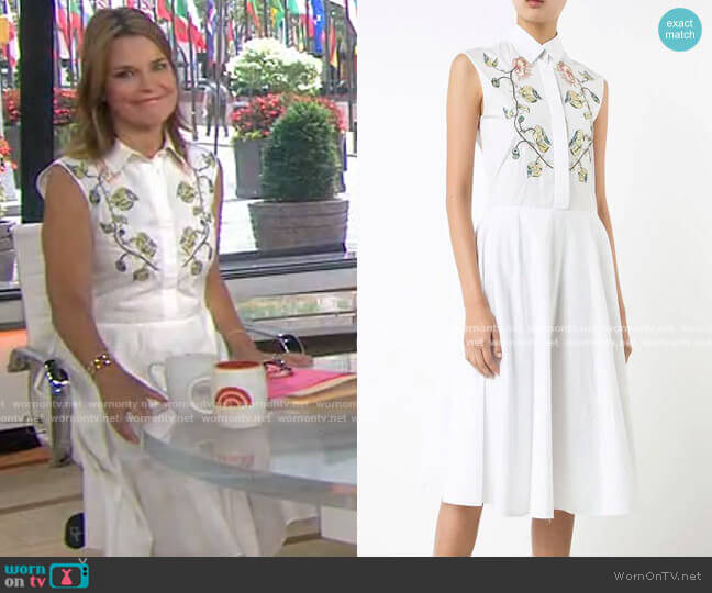 Sleeveless Shirt Dress by Adam Lippes worn by Savannah Guthrie  on Today