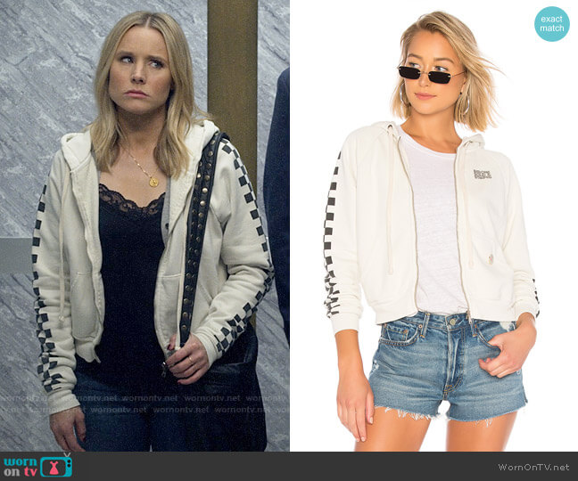 Solid & Striped x Re/Done The Malibu Hooded Zip Sweatshirt  worn by Veronica Mars (Kristen Bell) on Veronica Mars