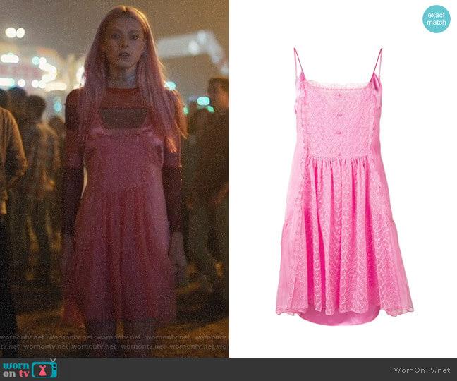 Stella McCartney Lace Panel Slip Dress worn by Jules Vaughn (Hunter Schafer) on Euphoria