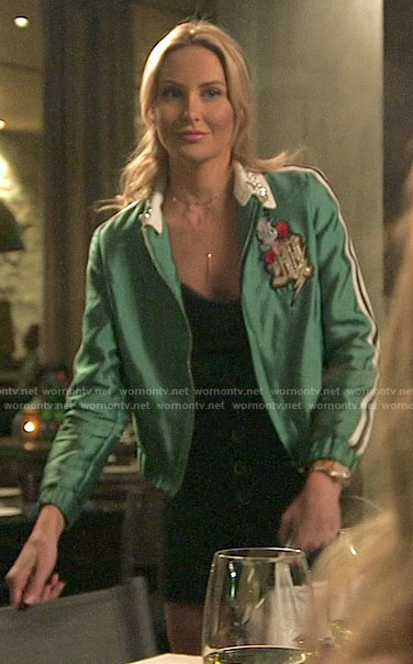 Stephanie's green embellished jacket on The Hills New Beginnings