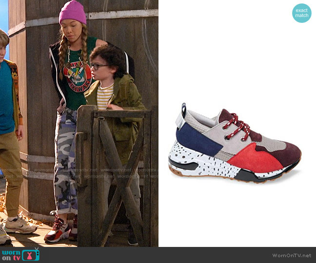Steve Madden Cliff Sneakers worn by Ava (Shelby Simmons) on Bunkd