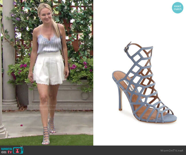 Steve Madden Slithur Sandals worn by Sharon Collins (Sharon Case) on The Young & the Restless
