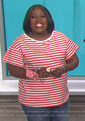Sheryl's striped tee on The Talk